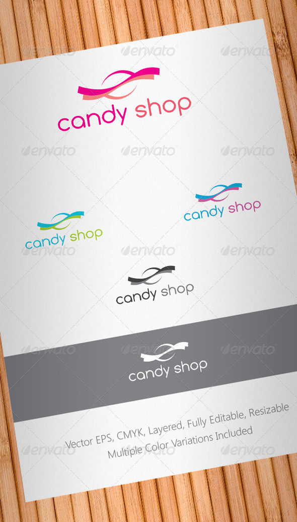 Candy Shop Logo Template - Food Logo Templates