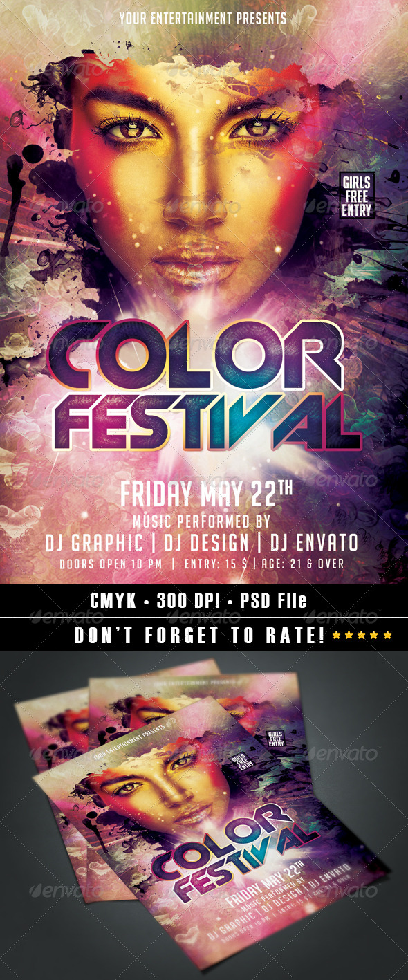 Color Festival - Events Flyers