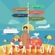Traveling and Planning a Summer Vacation - GraphicRiver Item for Sale