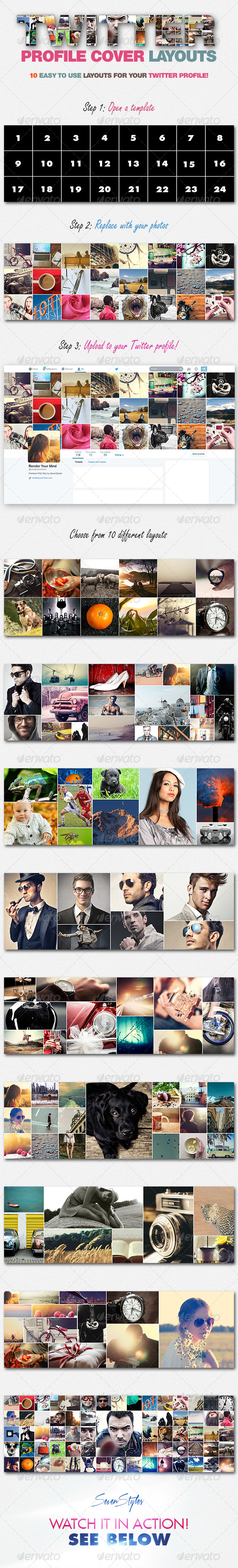 10 Twitter Profile Cover Templates - Twitter Social Media