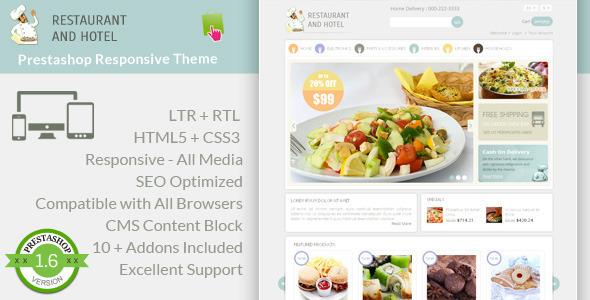 Restaurant – Prestashop Responsive Theme