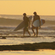 Surfers On the Beach at Sunset - VideoHive Item for Sale
