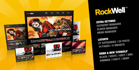 RockWell – Portfolio & Blog WordPress Theme