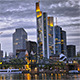 Skyscrapers and People at Dusk - VideoHive Item for Sale