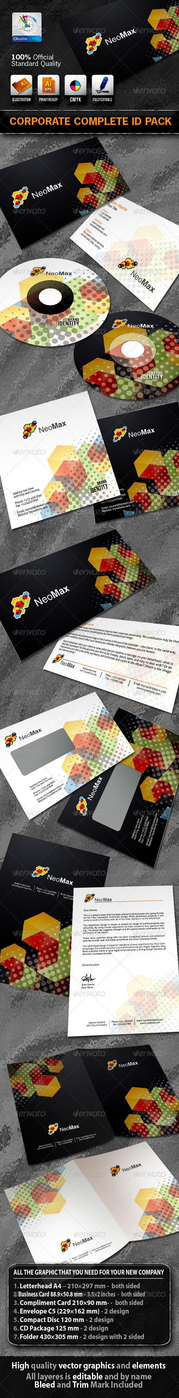 NeoMax Business Corporate ID Pack With Logo - Stationery Print Templates