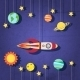 Paper Rocket in Space - GraphicRiver Item for Sale