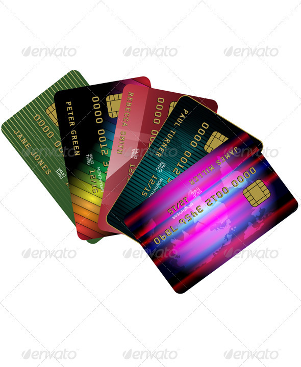 Credit Cards - Commercial / Shopping Conceptual