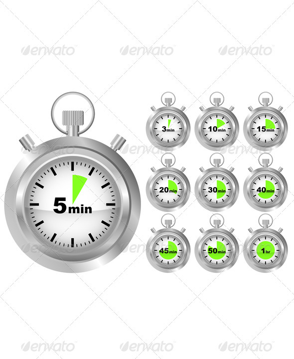 Stopwatch Timer - Miscellaneous Vectors