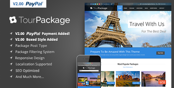 Tour Package – WordPress Travel/Tour Theme