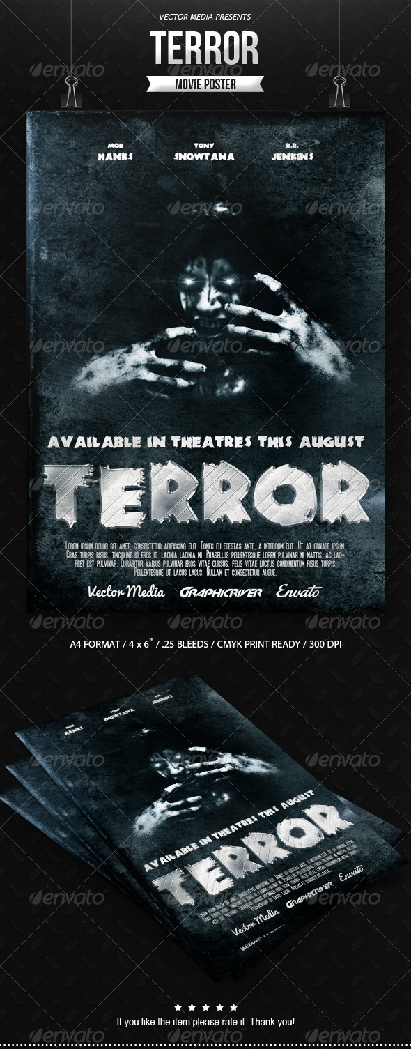 Horror Movie Poster Graphics Designs Templates