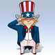 Uncle Sam Saluting - GraphicRiver Item for Sale