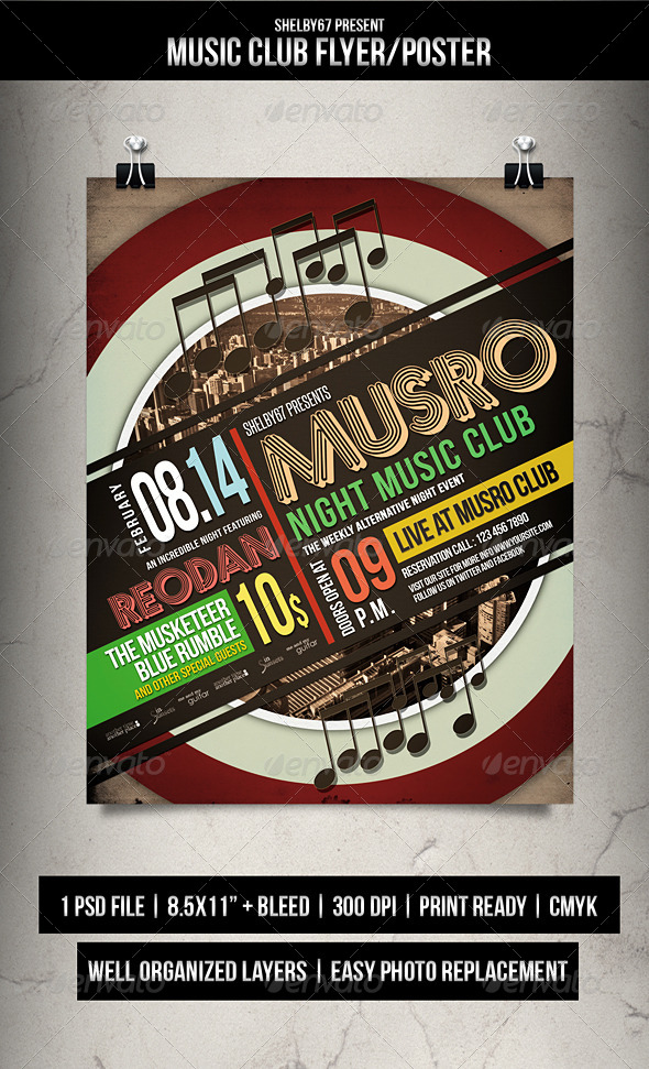 Music Club Flyer / Poster - Clubs & Parties Events