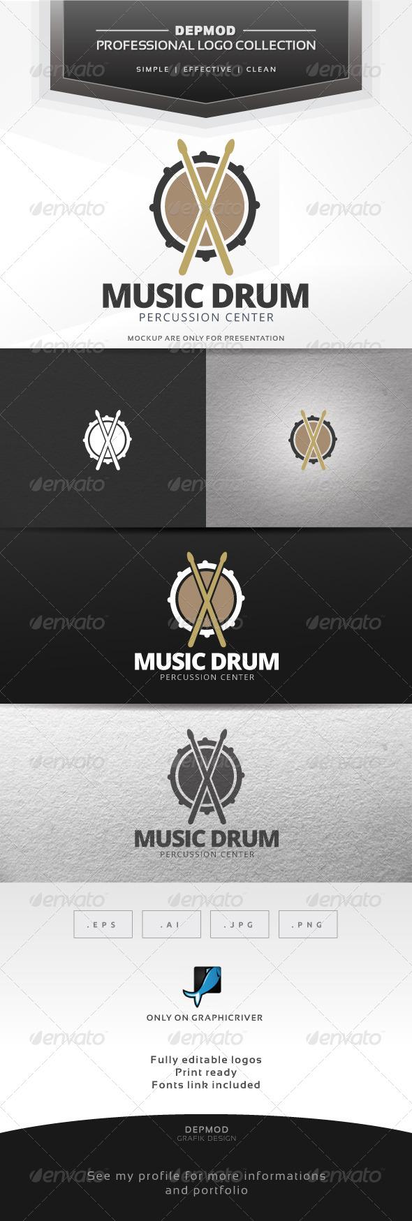 Music Drum Logo