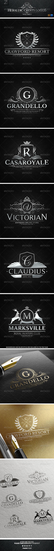 Heraldic Crest Logos Vol.3 - Badges & Stickers Web Elements