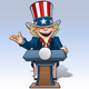 Uncle Sam - Presidential Podium Open - GraphicRiver Item for Sale