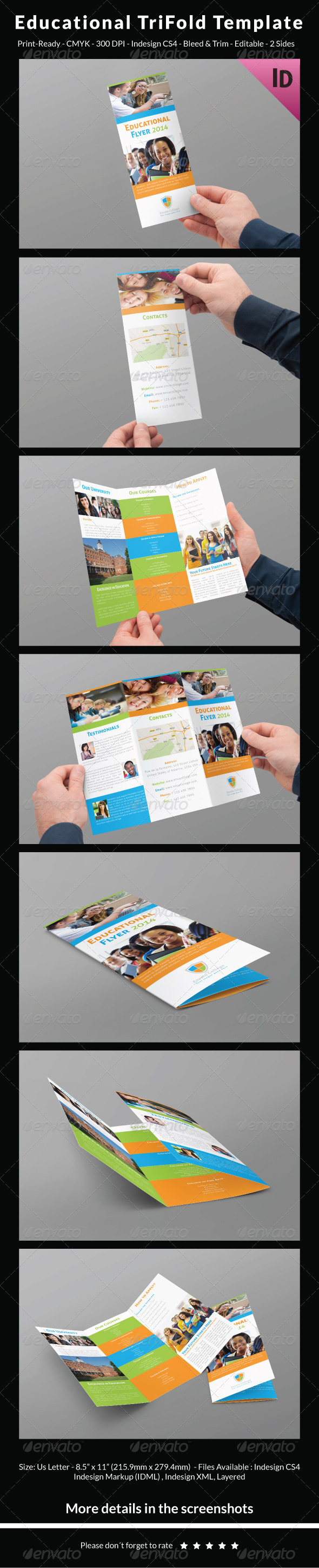 Educational Trifold Template - Corporate Flyers