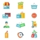 Flat Design Shopping Icons - GraphicRiver Item for Sale