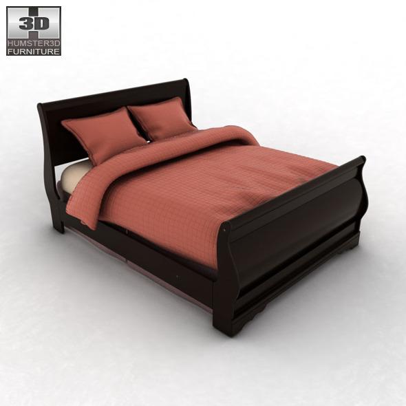 Huey vineyard sleigh bedroom set