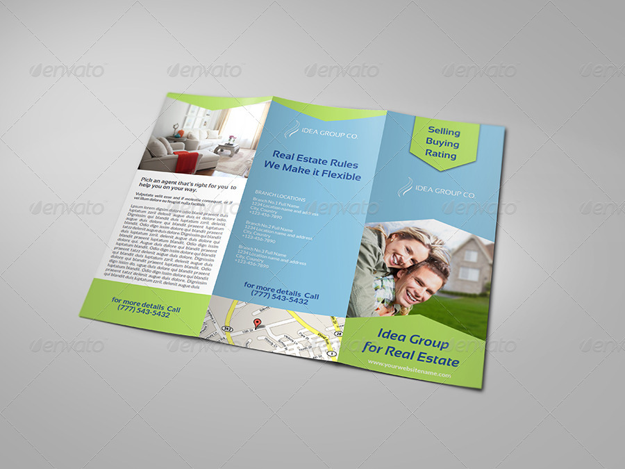 Real Estate TriFold Brochure Template By OWPictures GraphicRiver - Real estate tri fold brochure template