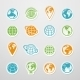Sticker Globe Icons - GraphicRiver Item for Sale