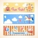 Vintage Carnival Banners Horizontal - GraphicRiver Item for Sale