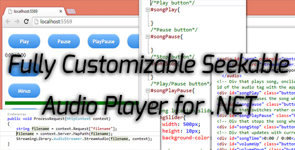 Excellent Seeakable Streamable .NET Audio Player for HTML5