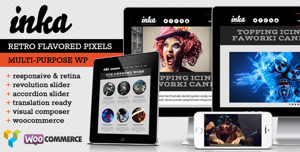 INKA - Retro Responsive WordPress Theme - Portfolio Creative