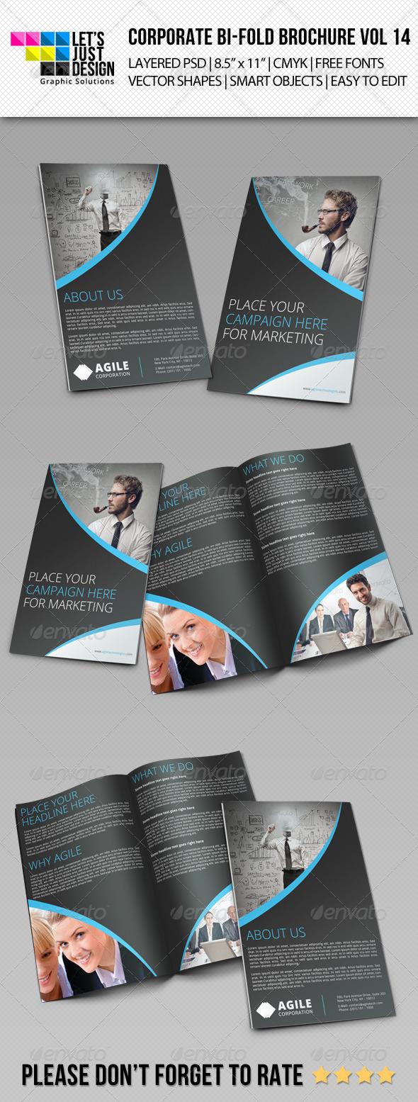 Creative Corporate Bi-Fold Brochure Vol 14 - Corporate Brochures