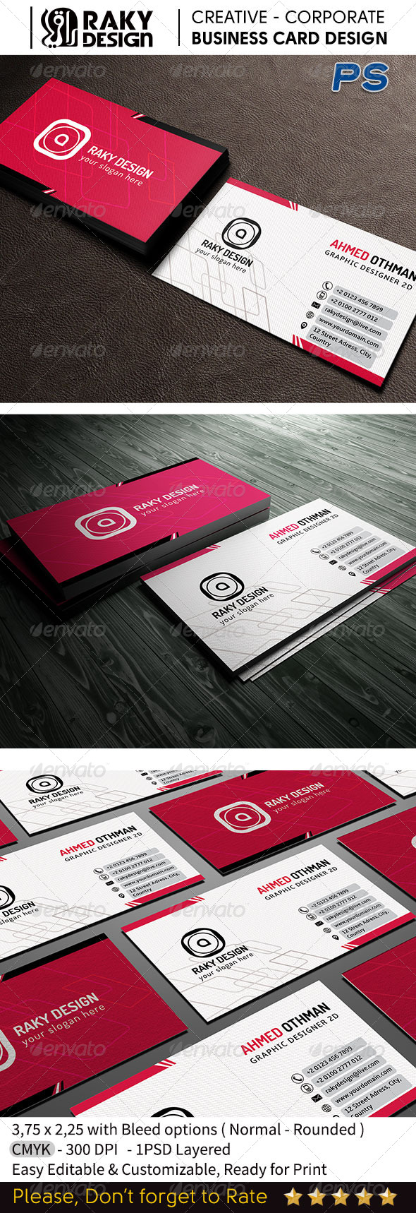 Clean Corporate Business Card 1 - Corporate Business Cards