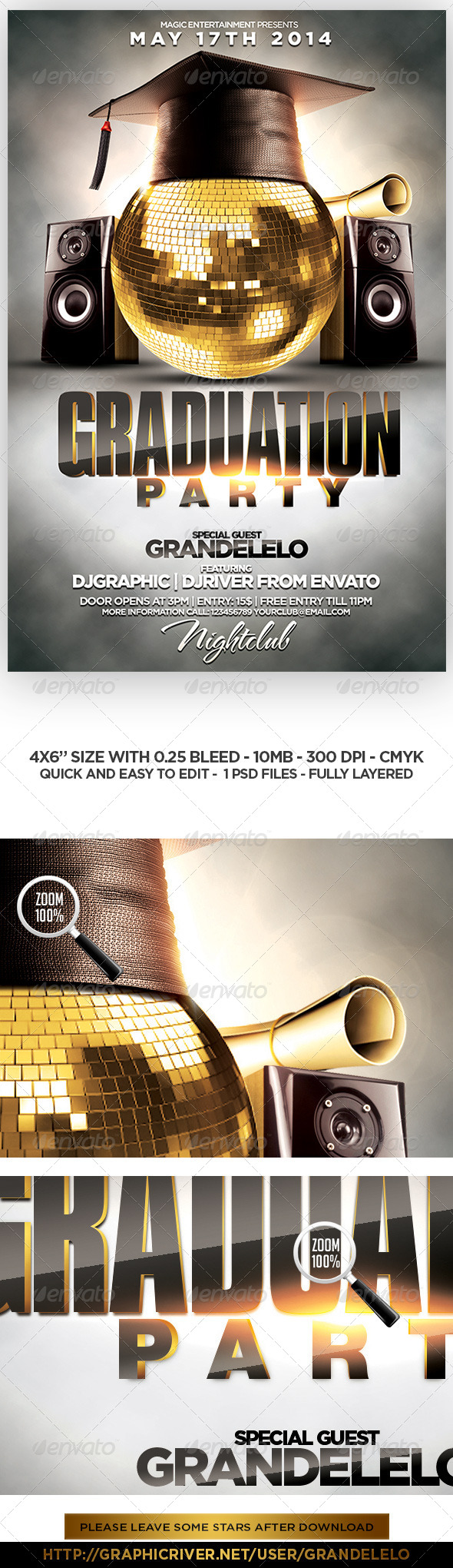 Graduation Party Flyer Template   Clubs U0026 Parties Events