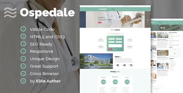 Ospedale Responsive HTML Temlate - Health & Beauty Retail