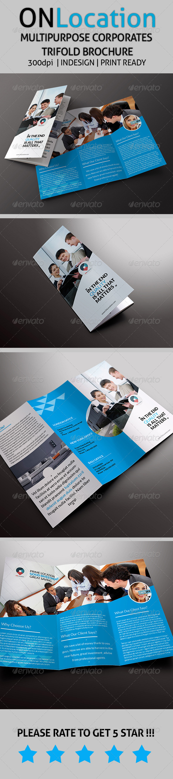 OnLocation - Corporate Trifold Brochure