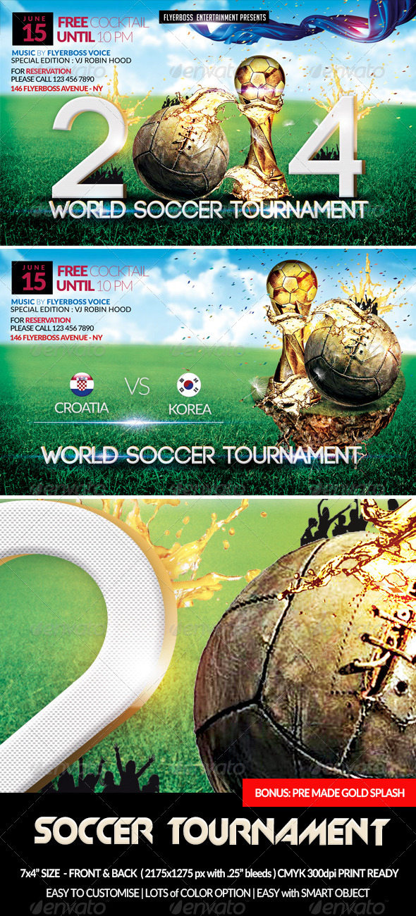 Soccer Tournament-Front & Back - Sports Events