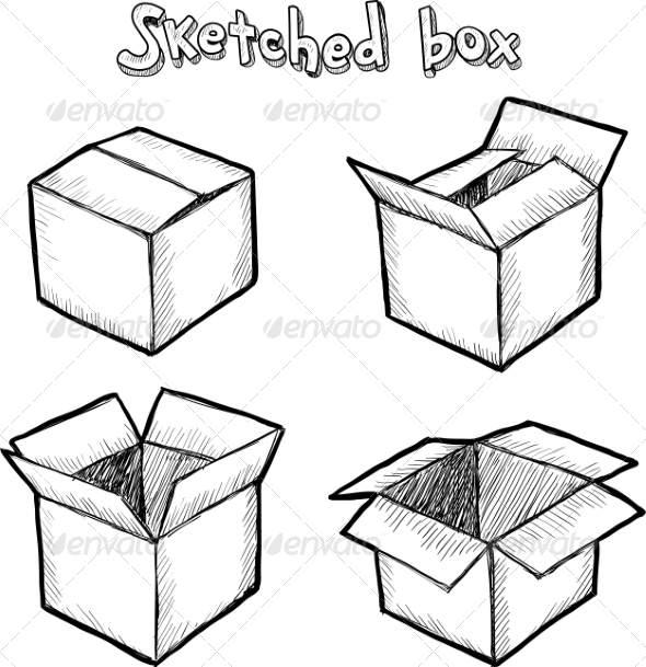 hand drawn boxes by art of sun graphicriver