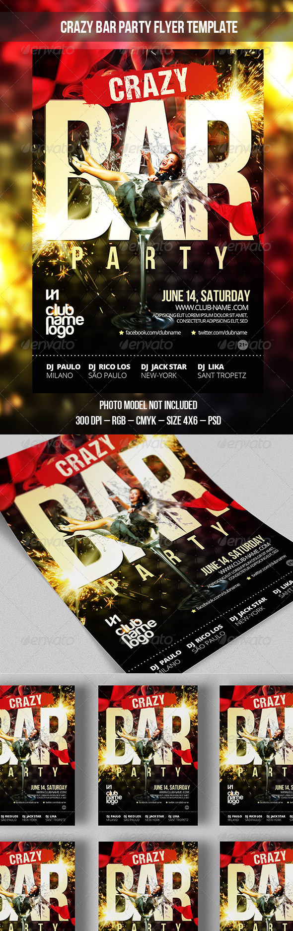 Bar Flyer - Clubs & Parties Events