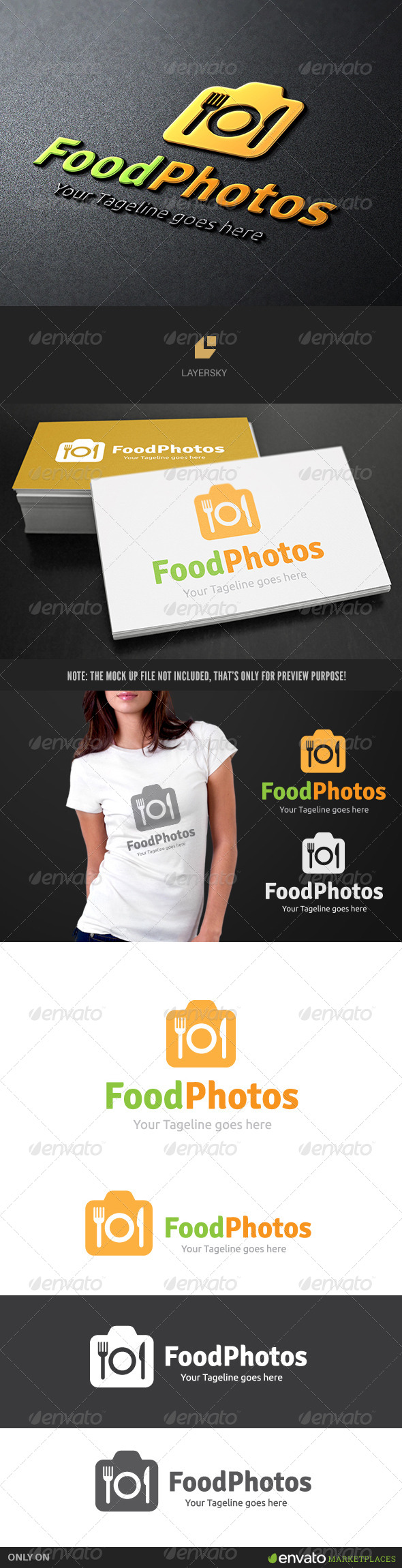 Food Photo - Food Logo Templates