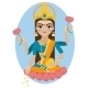 Lakshmi Deity Illustration - GraphicRiver Item for Sale
