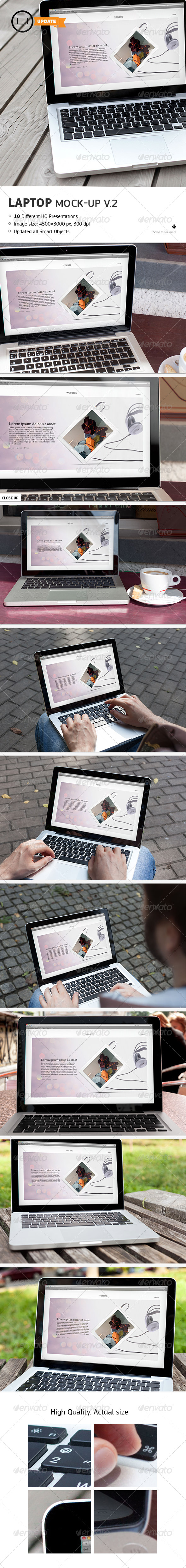 10 Laptop Mockups Vol.2 - Laptop Displays