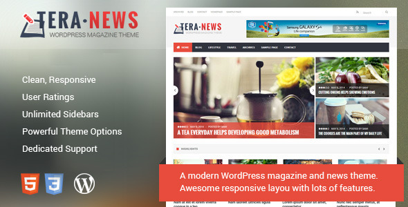 TeraNews - Responsive WordPress Magazine Theme - Blog / Magazine WordPress