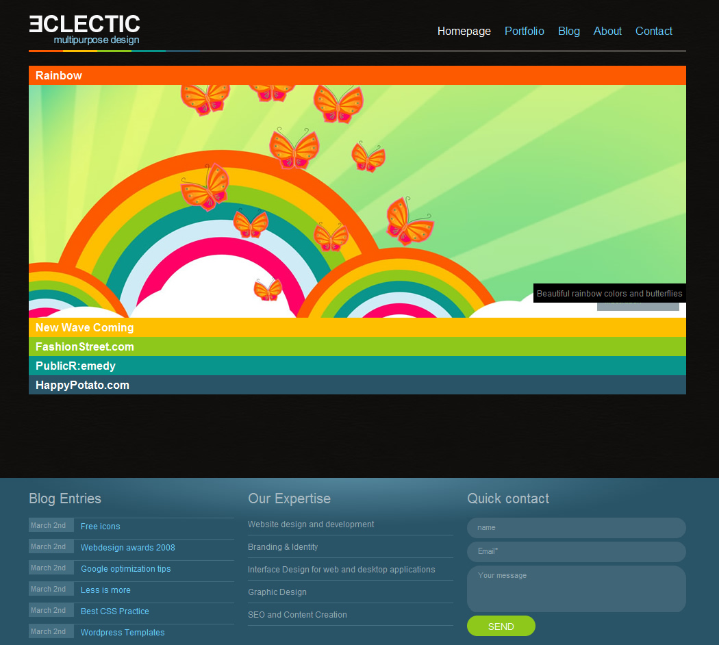 Free Download Eclectic Portfolio Nulled Latest Version