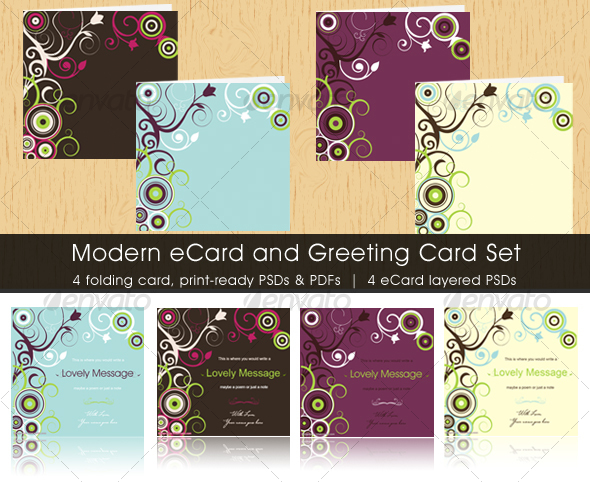 Modern ecard and greeting card set by two2twelve graphicriver modern ecard and greeting card set miscellaneous print m4hsunfo