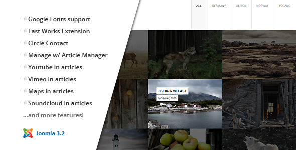 FULLSCREEN :: Photography Joomla Template