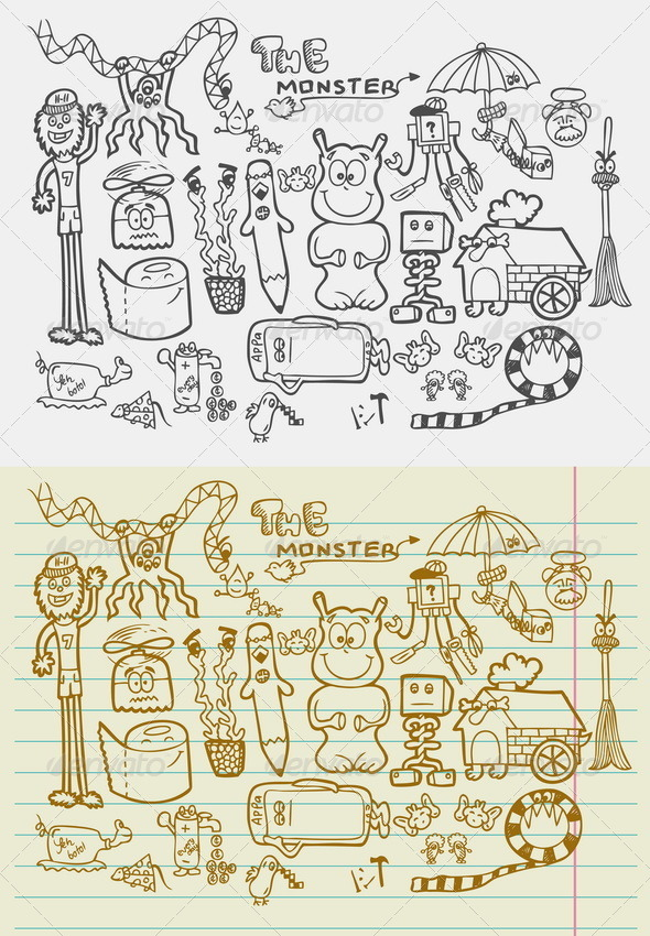 Doodle Monsters - Monsters Characters