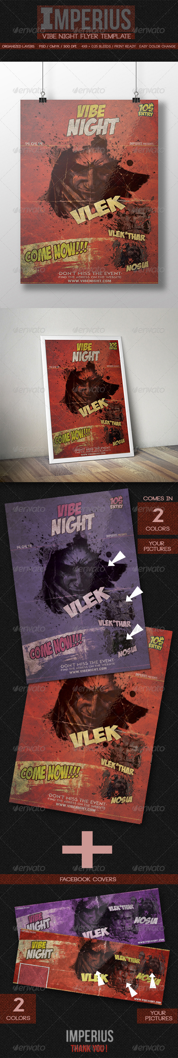 Vibe Night Flyer - Flyers Print Templates