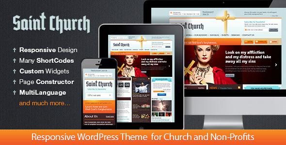 SaintChurch: Responsive Church Theme