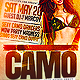 Camo Party Flyer Template PSD - GraphicRiver Item for Sale