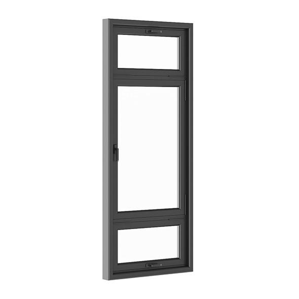 Black Metal Window 1100mm x 2700mm - 3DOcean Item for Sale