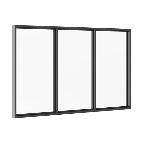 Black Metal Window 3100mm x 1880mm - 3DOcean Item for Sale