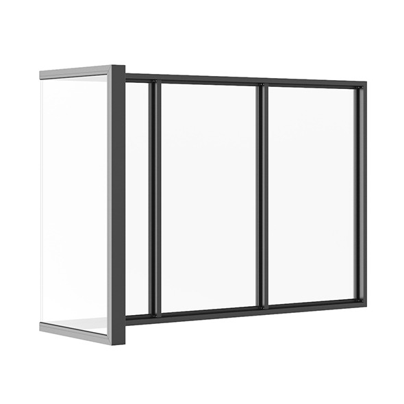 Black Metal Corner Window 3040mm x 1880mm - 3DOcean Item for Sale