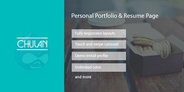 Chulan – Personal Portfolio & Resume Drupal Theme